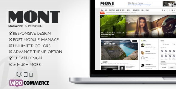 MONT – WP Theme Magazine & Personals