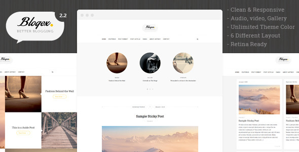 Blogex – Minimal Responsive WordPress Blog Theme