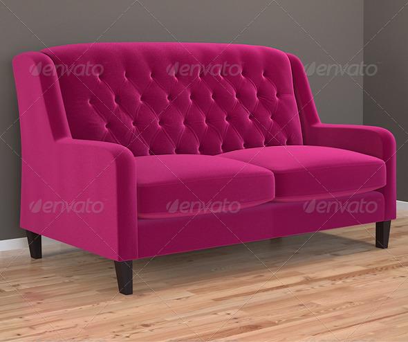 Bladon sofa in Cleves velvet - 3DOcean Item for Sale