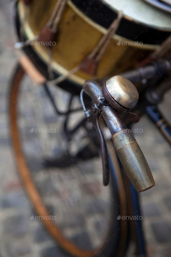 Bike and drum - Stock Photo - Images