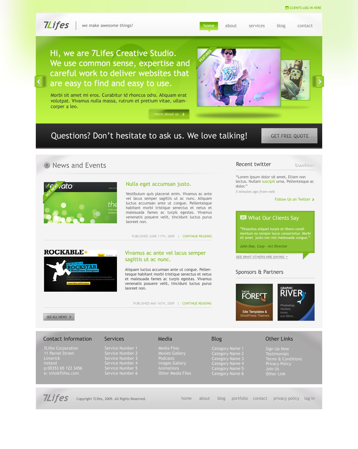 Free Download 7Lifes - Modern and Professional Psd. Template Nulled Latest Version