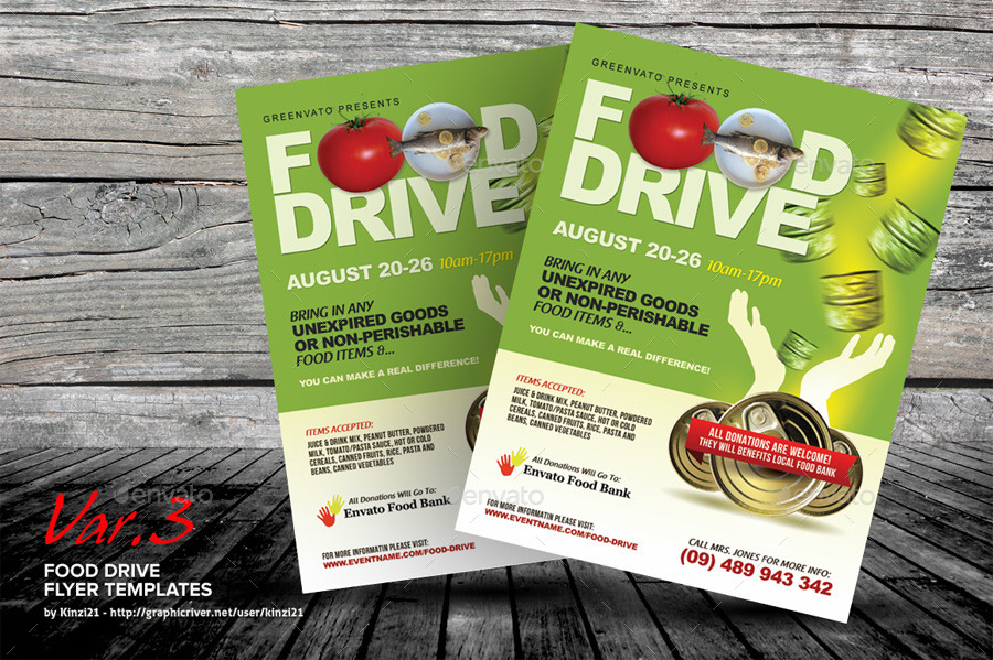 Food Drive Flyer Templates by kinzi21 | GraphicRiver