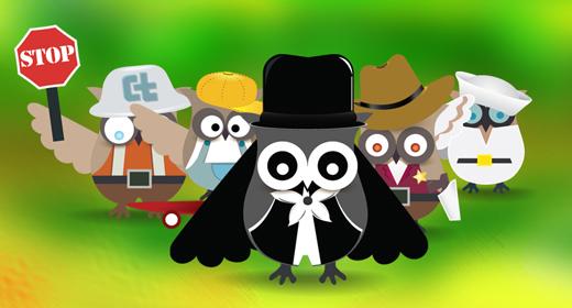 Scocial Owl Mascot