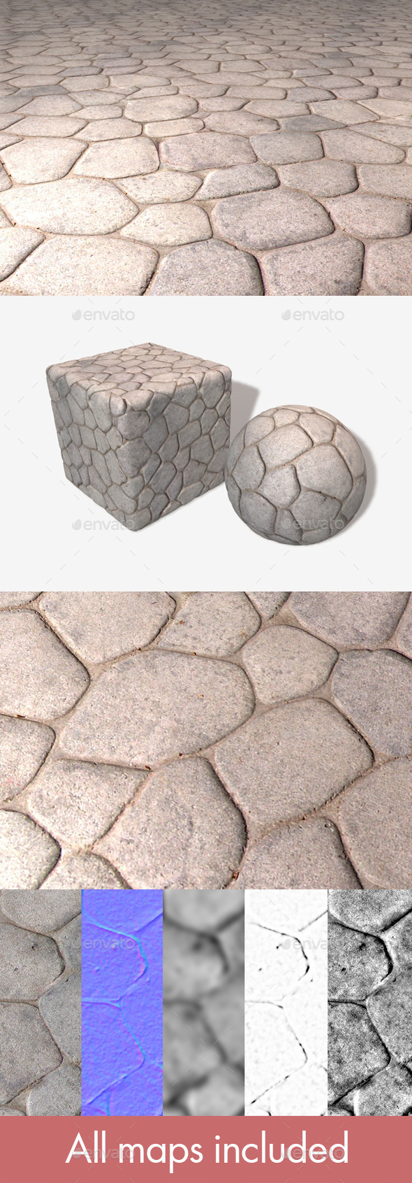 Smooth Stone Floor Seamless Texture - 3DOcean Item for Sale