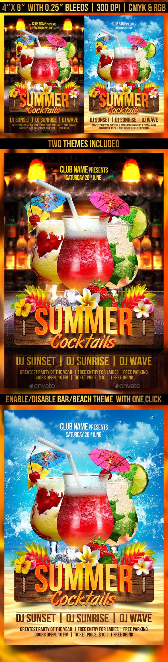 Summer Cocktails Flyer Template
