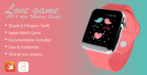 Love Game Apple Watch app in Swift - CodeCanyon Item for Sale