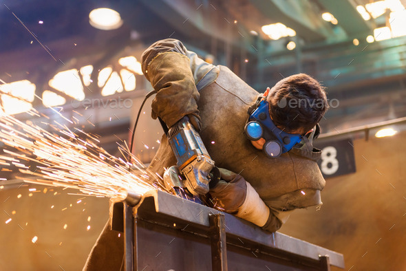 Man welding - Stock Photo - Images