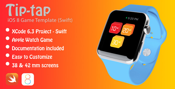 TipTap Apple Watch Game in Swift - CodeCanyon Item for Sale