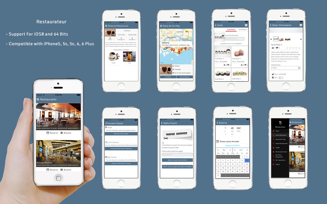 Restaurateur solution for any restaurants app using