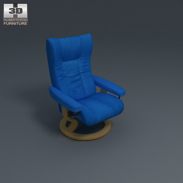 Wing Chair - Ekornes Stressless - 3D Model.