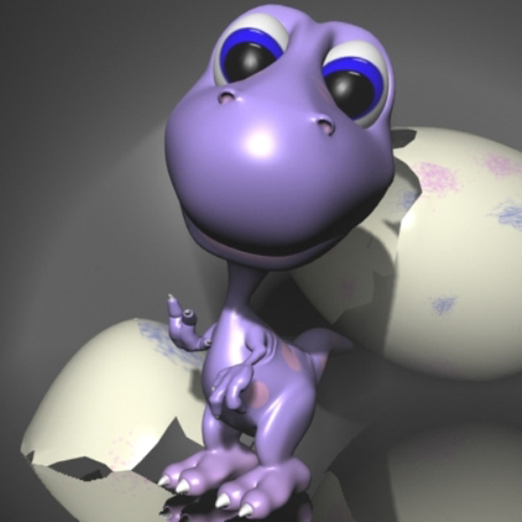 Baby Dino Rigged - 3DOcean Item for Sale
