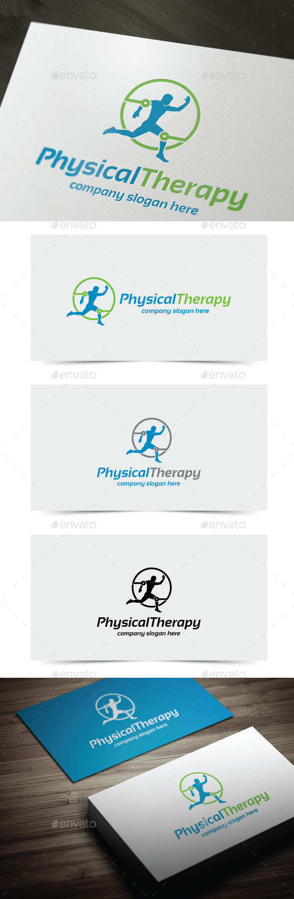 Physical Therapy - Humans Logo Templates