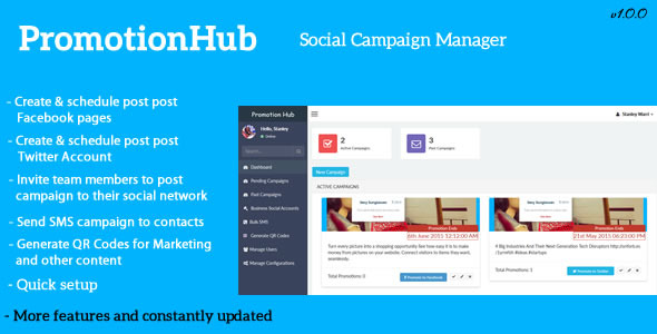 Promotion Hub – Social Campaign Manager - CodeCanyon Item for Sale