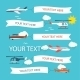 Flying Planes And Helicopters Set  - GraphicRiver Item for Sale