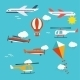 Planes, Helicopters,  Hot Air Balloon And Kite - GraphicRiver Item for Sale