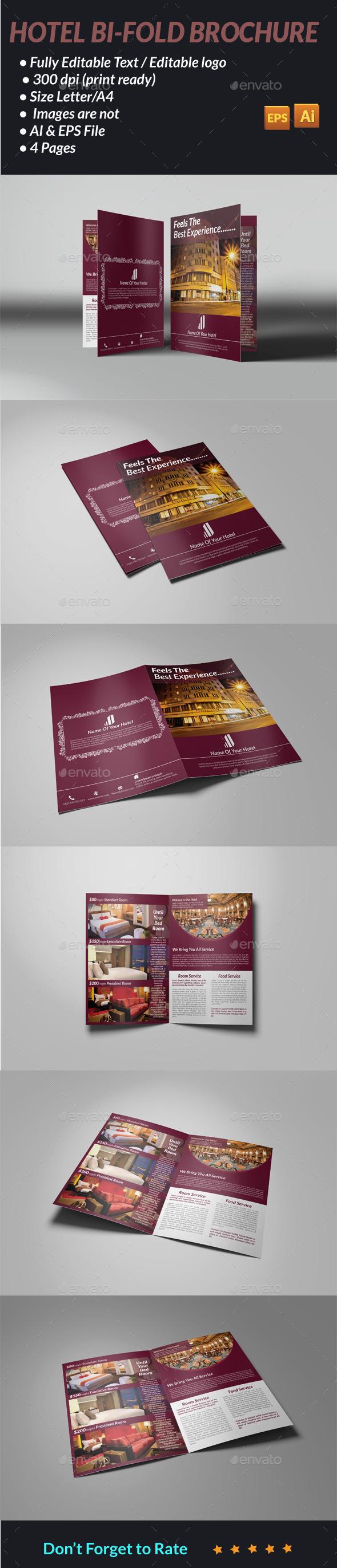Hotel Bi-Fold Brochure - Brochures Print Templates
