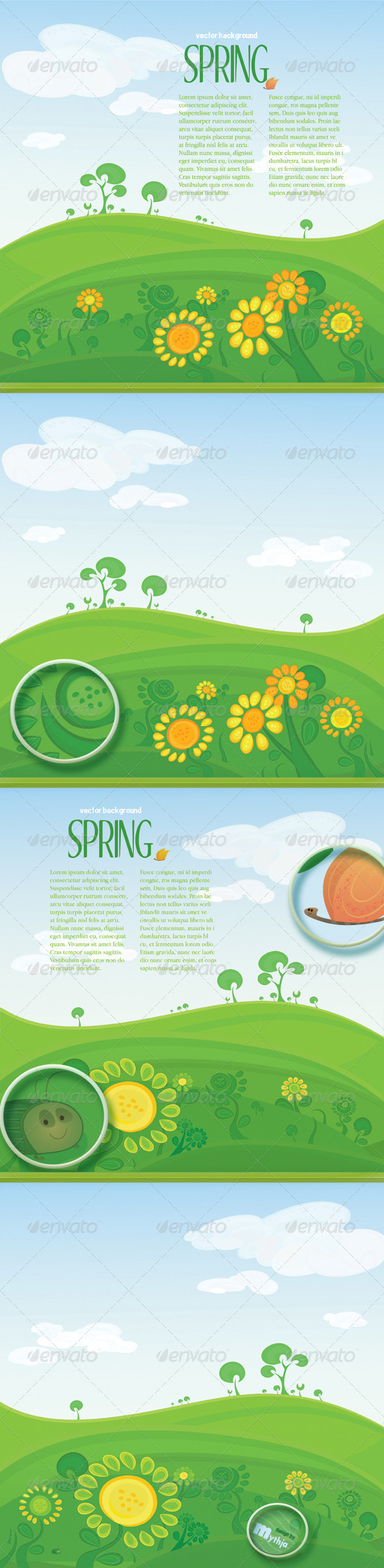 Vector spring landscape with copyspace - Nature Conceptual