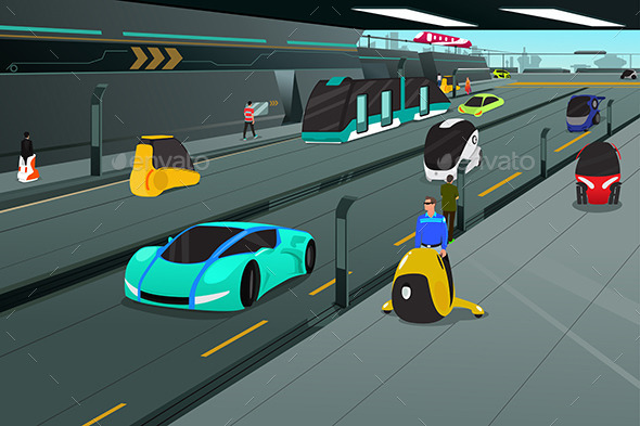 Futuristic City Transportation - Miscellaneous Conceptual