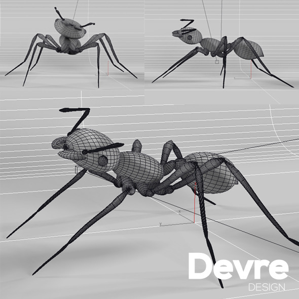Ant Low Poly - 3DOcean Item for Sale