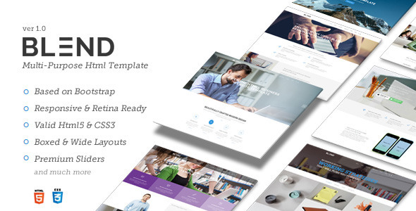 Blend – Multi-Purpose Responsive Website Template