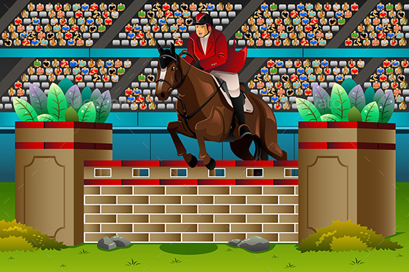 Equestrian in the Competition - Sports/Activity Conceptual