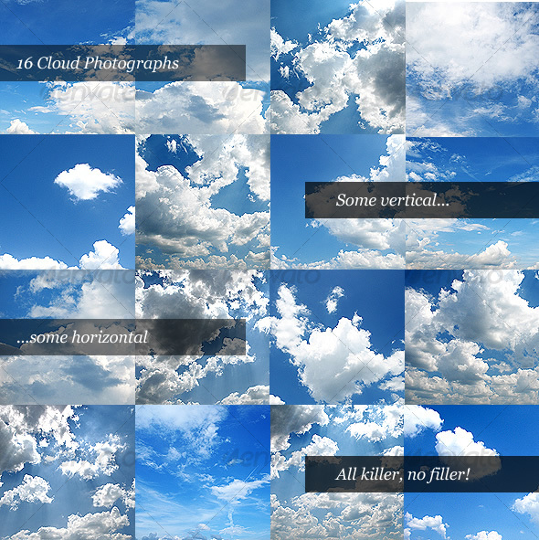 Cloud Photo Pack - Nature Textures