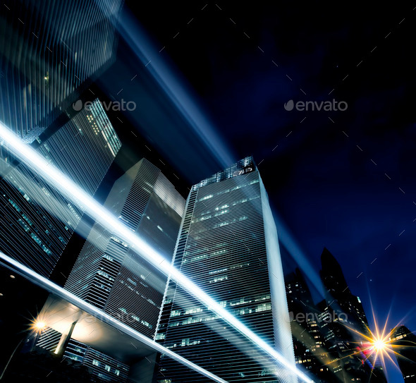 Light trails - Stock Photo - Images