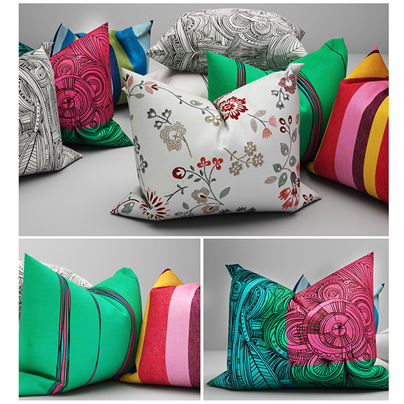 Pillows ikea 02 - 3DOcean Item for Sale