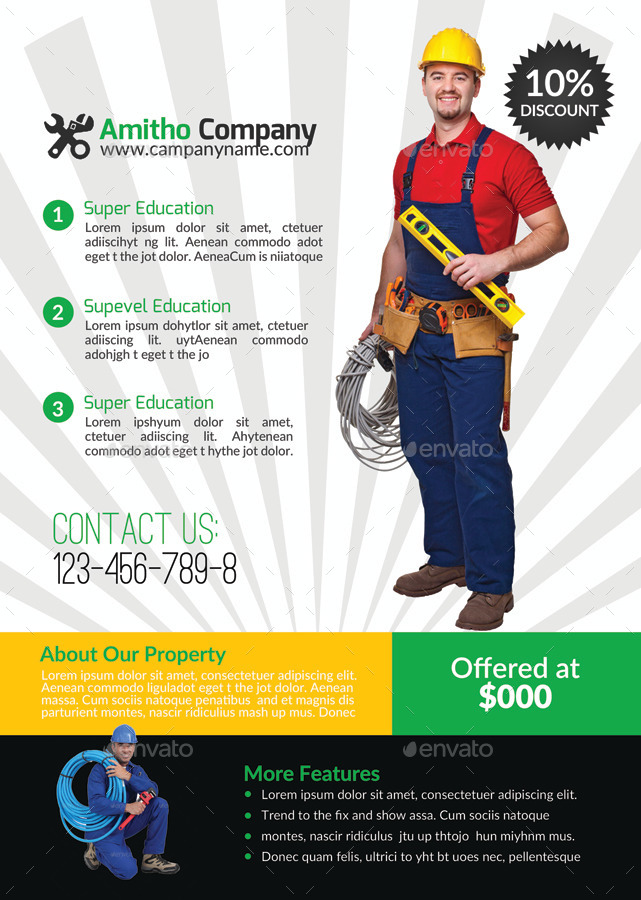 Handyman Flyer Templates Free Download Choice Image Template