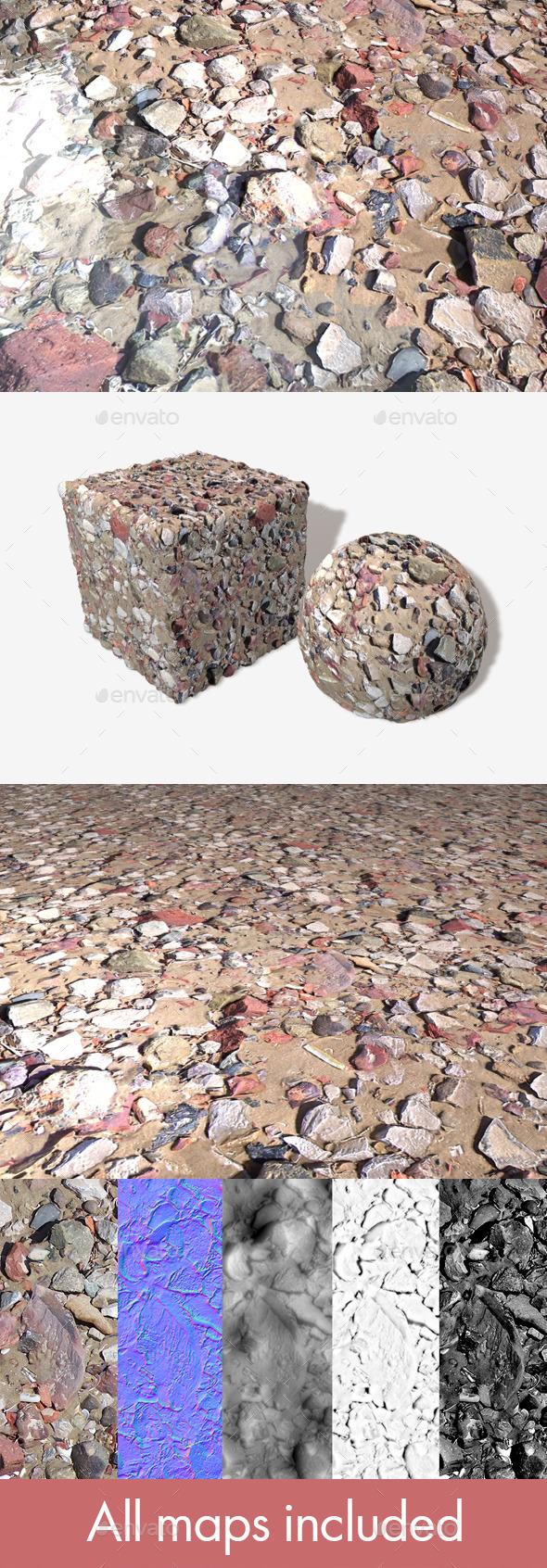 Beach Rubble 2 Seamless Texture - 3DOcean Item for Sale