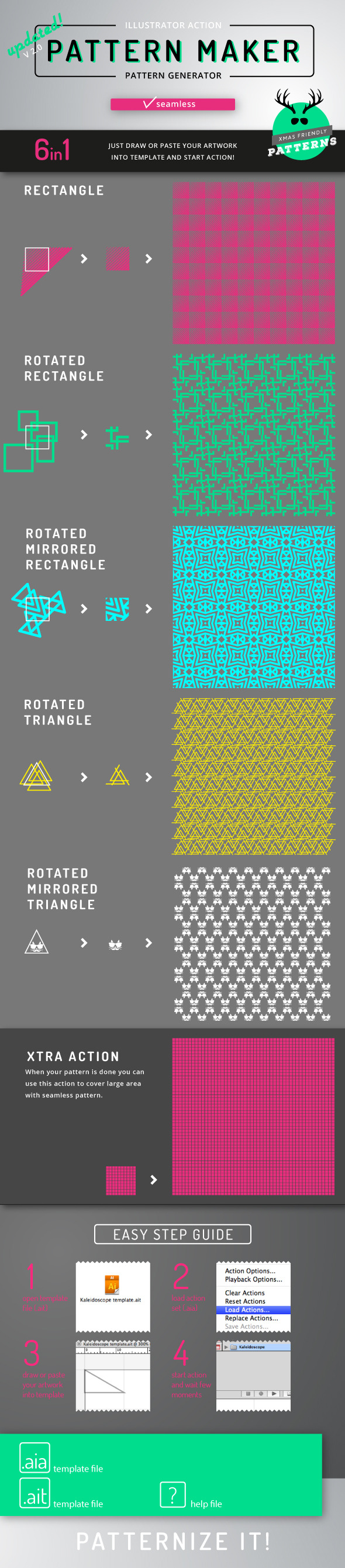 Pattern Maker - Illustrator Action - Actions Illustrator