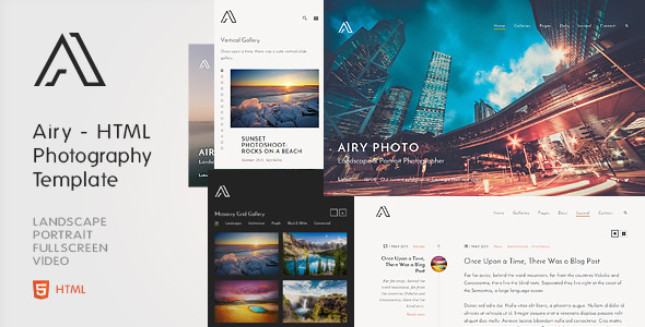 Airy – Photography & Creative HTML Template