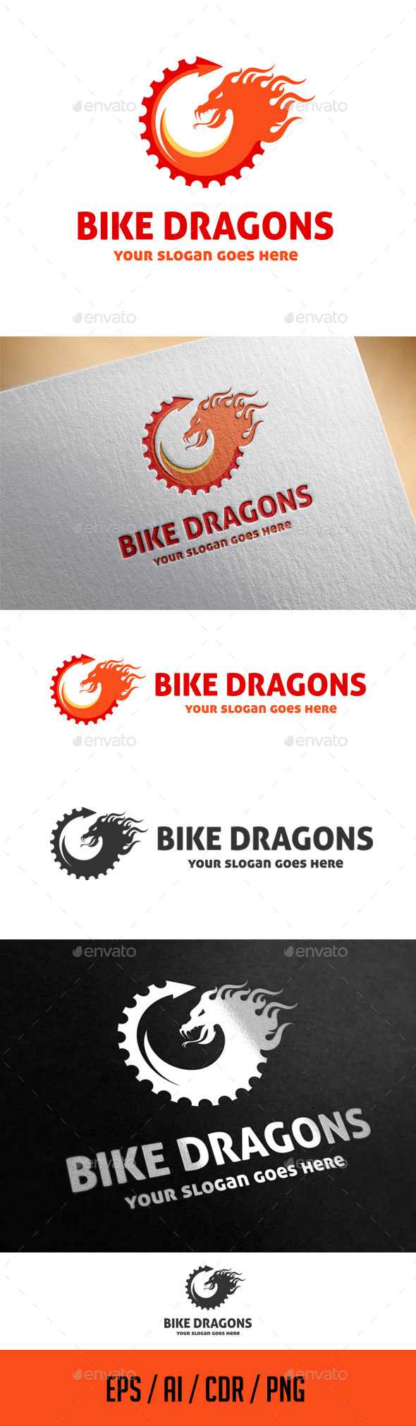 Bike dragons logo template by ragerabbit graphicriver bike dragons logo template abstract logo templates biocorpaavc Images