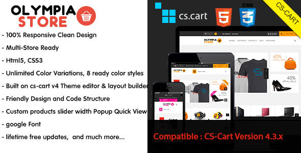Image of Olympia - Responsive CS-Cart Theme