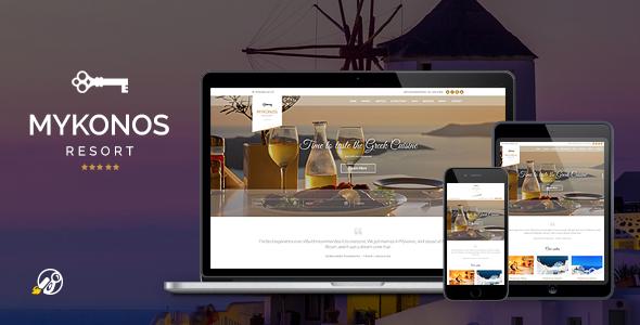 Mykonos Resort – Hotel Theme For WordPress