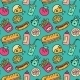 Fast Food Seamless Background - GraphicRiver Item for Sale