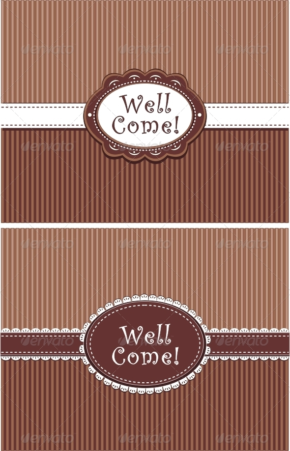 Invitation in chocolate colors - Invitations Cards & Invites