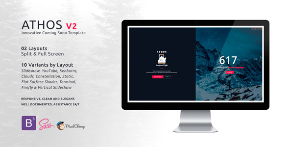 ATHOS V2 – Innovative Coming Soon Template