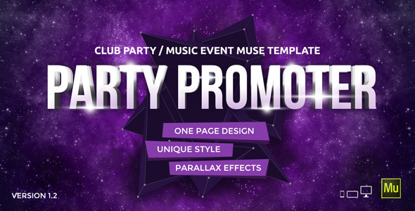 Party Promoter – Club Music Event Muse Template