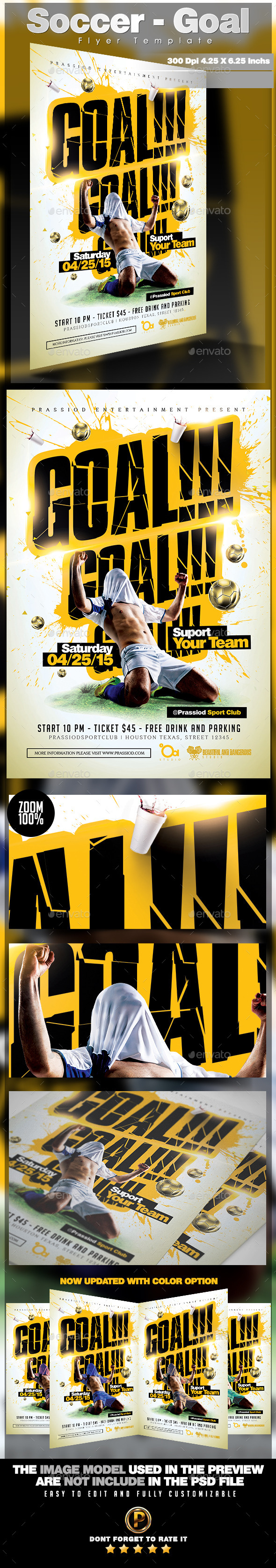 Soccer - Goal Flyer Template by prassiod | GraphicRiver