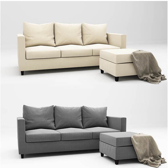 Adam sofa - 3DOcean Item for Sale