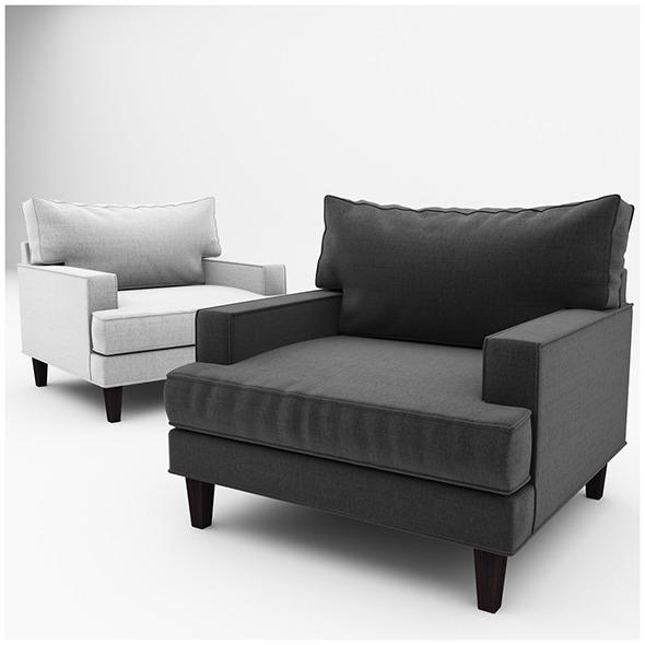 Ramey armchair - 3DOcean Item for Sale