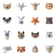 Animals Heads Flat - GraphicRiver Item for Sale