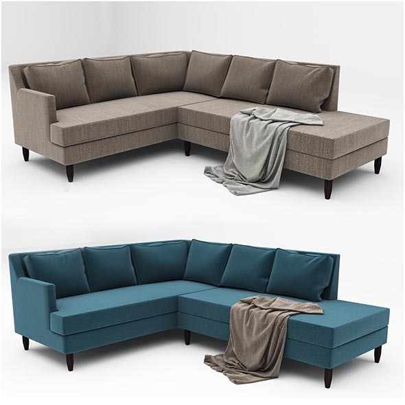 Jett Sofa - 3DOcean Item for Sale