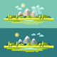 Flat Nature Landscape Illustration - GraphicRiver Item for Sale