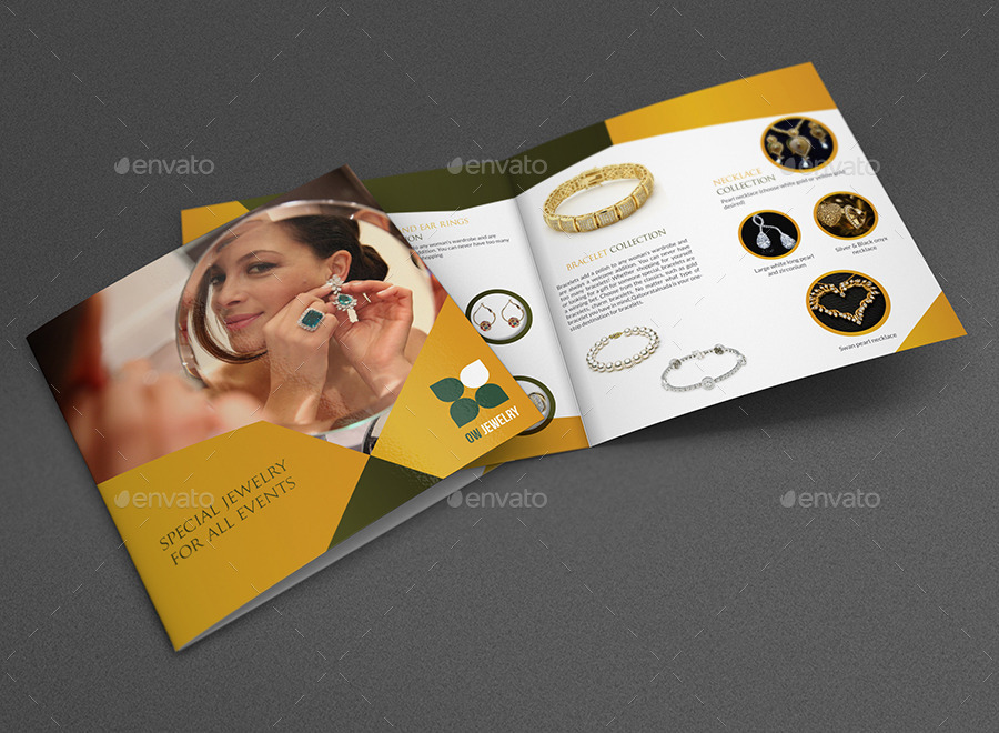 Jewelry And Accessories Bi-Fold Catalog Brochure By Owpictures