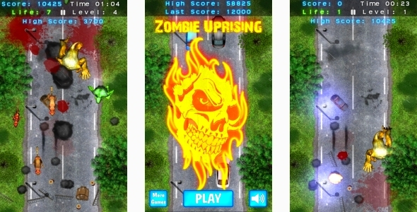 Zombie Uprising - HTML5 Mobile game (Capx) - CodeCanyon Item for Sale