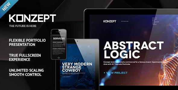 Konzept - Fullscreen Portfolio WordPress Theme - Portfolio Creative