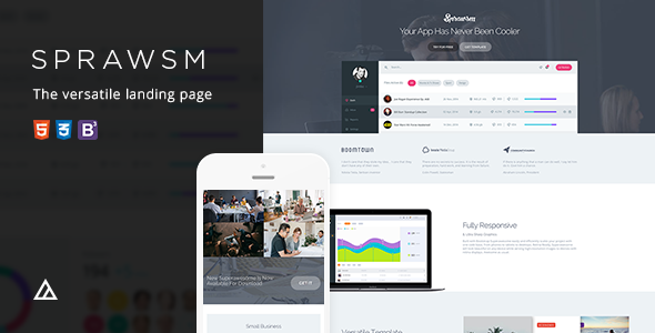 Superawesome – Retina Bootstrap 3 App Landing Page