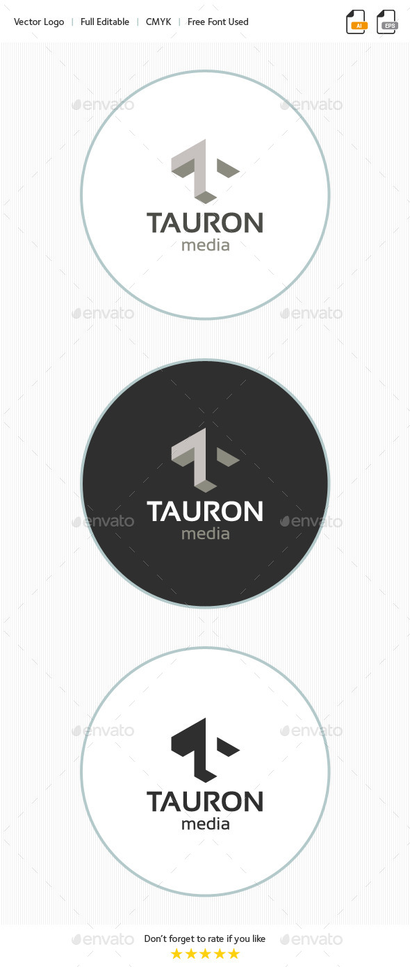 Tauron Media - Letter T - Letters Logo Templates